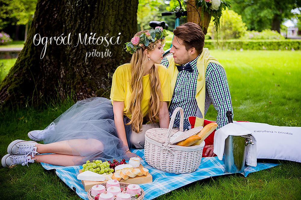 Ogród Miłości – piknik. Sesja narzeczeńska w Pałacu Ciekocinko
