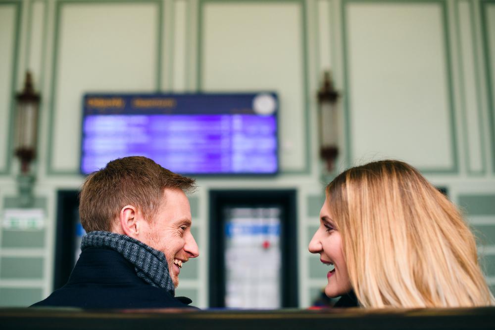 Sesja walentynkowa – Kasia i Ross / Dworzec PKP