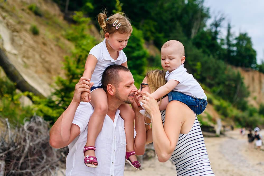 Letnia sesja rodzinna nad morzem